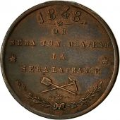 Algeria, Medal, Colonisation de lAlgérie, 1848, AU(50-53), Copper