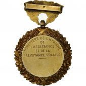 France, Prévoyance Sociale, Medal, Very Good Quality, Lenoir, Vermeil, 32