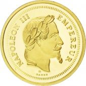 France, Médaille, Napoléon III, Reproduction, 100 Francs or, 2009, FDC, Or