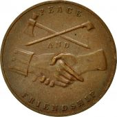 États-Unis, Médaille, Georges Washington, Peace and Friendship, 1789, TTB