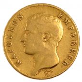 First Empire, Gold 40 Francs, Napoleon Emperor, Naked Head