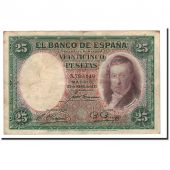Spain, 25 Pesetas, 1931, KM:81, 1931-04-25, VF(30-35)
