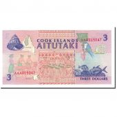 Banknote, Cook Islands, 3 Dollars, 1992, KM:7a, UNC(65-70)
