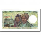 Billet, Comoros, 5000 Francs, 1984, Undated, KM:12a, SPL+