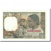 Billet, Comoros, 100 Francs, 1960-1963, Undated, KM:3b, NEUF