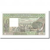 Banknote, West African States, 500 Francs, 1983, KM:706Kf, UNC(65-70)