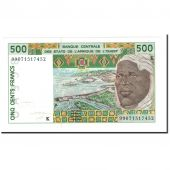 Banknote, West African States, 500 Francs, 1999, KM:710Kj, UNC(63)