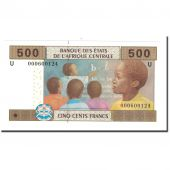 Banknote, Central African States, 500 Francs, 2002, KM:206U, UNC(65-70)
