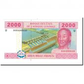 Banknote, Central African States, 2000 Francs, 2002, KM:208U, UNC(65-70)