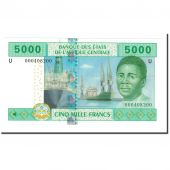 Banknote, Central African States, 5000 Francs, 2002, KM:209U, UNC(64)