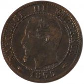 Second Empire, 1 Centime Napoléon III tête nue