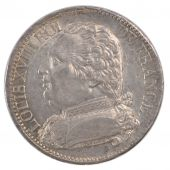 Louis XVIII, 5 Francs with dressed bust
