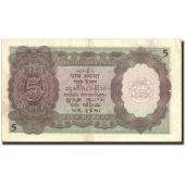 India, 5 Rupees, 1943, 1943, KM:18b, EF(40-45)