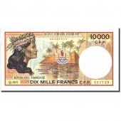 French Pacific Territories, 10,000 Francs, Undated (1985), KM:4b