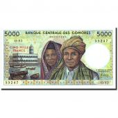 Comoros, 5000 Francs, Undated (1976), KM:12a, NEUF