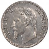 Second Empire, 5 Francs Napoléon III tête laurée