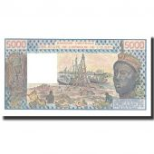 Billet, West African States, 5000 Francs, 1981, 1981, KM:208Be, NEUF