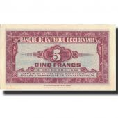 Banknote, French West Africa, 5 Francs, 1942, 1942-12-14, KM:28a, UNC(63)