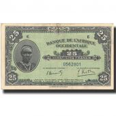 Banknote, French West Africa, 25 Francs, 1942, 1942-12-14, KM:30a, AU(50-53)