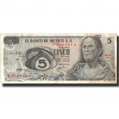 Billet, Mexique, 5 Pesos, 1969, 1969-12-03, KM:62a, TTB