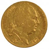 Louis XVIII, 20 Francs or naked bust