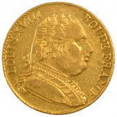 Louis XVIII, 20 Francs gold with dressed bust