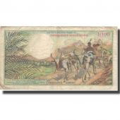 Banknote, Madagascar, 1000 Francs = 200 Ariary, 1966, 1966, KM:59a, VF(30-35)