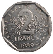 Vth Republic, 2 Francs Semeuse