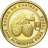 Coin, CABINDA, 5 Centavos, 2008, MS(63), Brass plated steel, KM:16