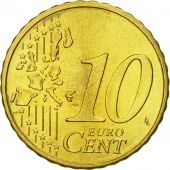 Portugal, 10 Euro Cent, 2002, MS(65-70), Brass, KM:743