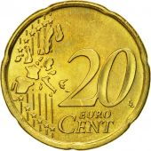 Portugal, 20 Euro Cent, 2002, MS(65-70), Brass, KM:744