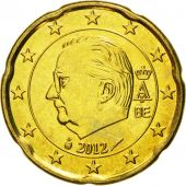 Belgium, 20 Euro Cent, 2012, MS(65-70), Brass, KM:278