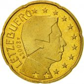Luxembourg, 20 Euro Cent, 2003, MS(65-70), Brass, KM:79