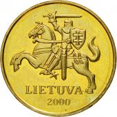 Monnaie, Lithuania, 50 Centu, 2000, SPL, Nickel-brass, KM:108
