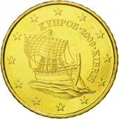 Cyprus, 50 Euro Cent, 2009, MS(65-70), Brass, KM:83