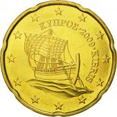 Cyprus, 20 Euro Cent, 2009, MS(65-70), Brass, KM:82