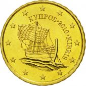 Cyprus, 10 Euro Cent, 2010, MS(65-70), Brass, KM:81
