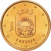 Latvia, Euro Cent, 2014, MS(65-70), Copper Plated Steel, KM:150