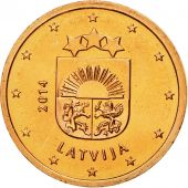 Latvia, 2 Euro Cent, 2014, MS(65-70), Copper Plated Steel, KM:151