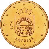 Latvia, 5 Euro Cent, 2014, MS(65-70), Copper Plated Steel, KM:152