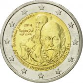 Greece, 2 Euro, Teotokoupolos, 2014, MS(63), Bi-Metallic