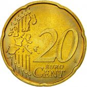 GERMANY - FEDERAL REPUBLIC, 20 Euro Cent, 2004, MS(63), Brass, KM:211