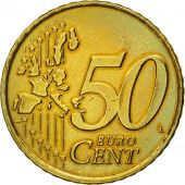 Netherlands, 50 Euro Cent, 2000, EF(40-45), Brass, KM:239