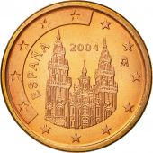 Espagne, 5 Euro Cent, 2004, SPL, Copper Plated Steel, KM:1042