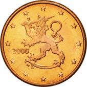 Finlande, 5 Euro Cent, 2000, SPL, Copper Plated Steel, KM:100