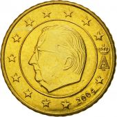 Belgium, 50 Euro Cent, 2004, MS(63), Brass, KM:229