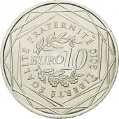 France, 10 Euro, Limousin, 2010, MS(63), Silver, KM:1660