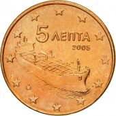 Greece, 5 Euro Cent, 2005, MS(63), Copper Plated Steel, KM:183