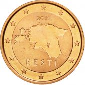 Estonia, 2 Euro Cent, 2011, MS(63), Copper Plated Steel, KM:62