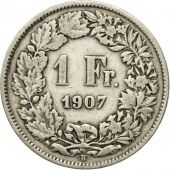 Coin, Switzerland, Franc, 1907, Bern, VF(20-25), Silver, KM:24